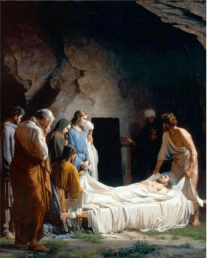 Ils le déposèrent dans une tombe creusée dans le rocher
