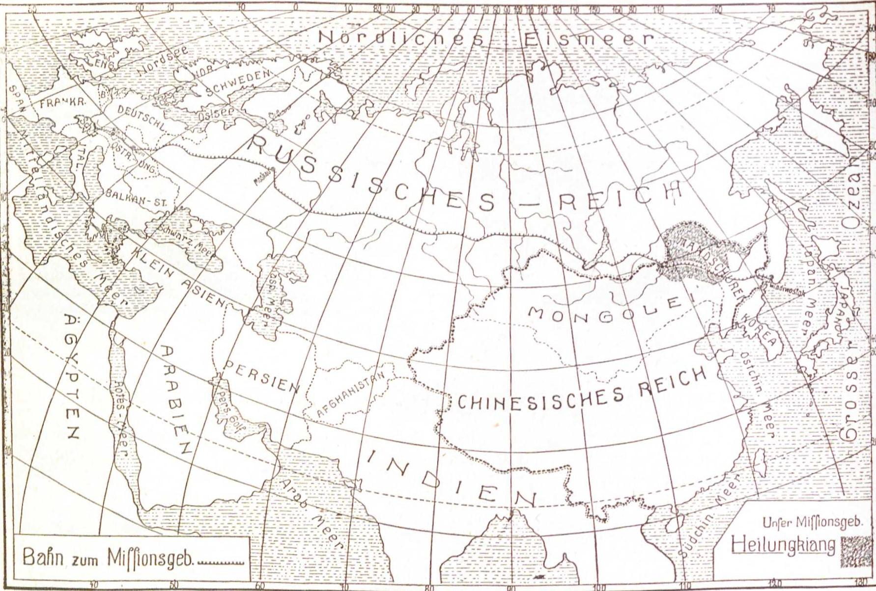 La Mandchourie: contexte et voyage de la première mission