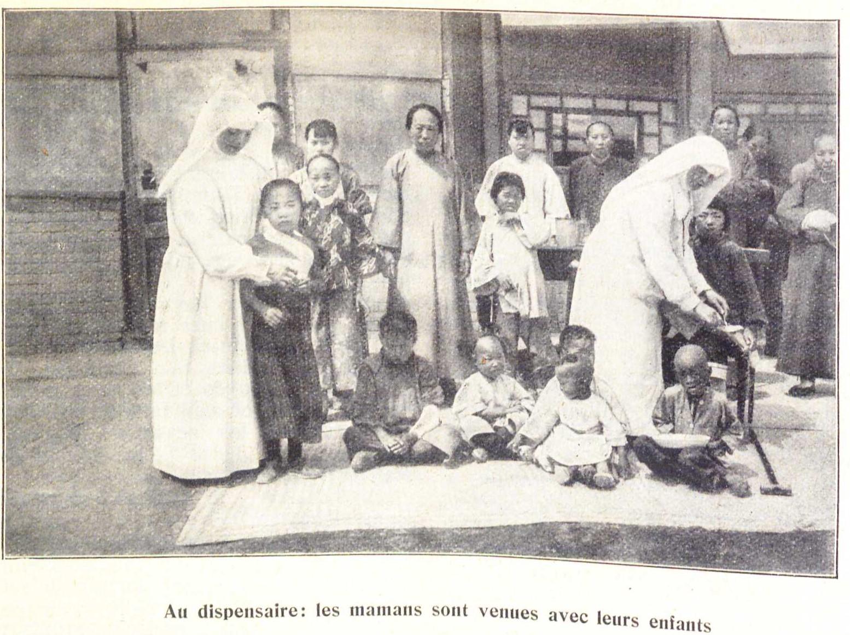Le soin des malades en Mandchourie