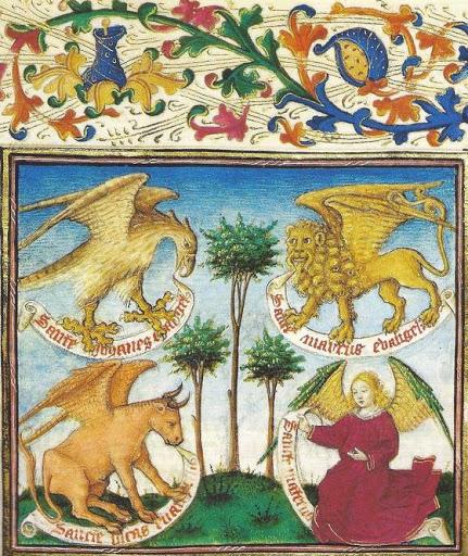 Les symboles des évangélistes
