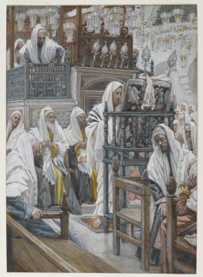 Jésus enseigne à la synagogue